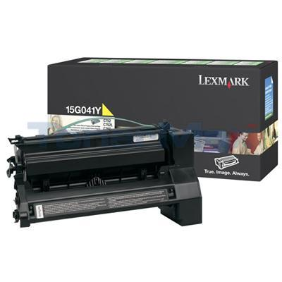 LEXMARK C752 RP TONER CART YELLOW 6K